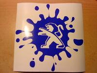 """large 16x16"""" peugeot paint splat bomb bonnet side graphic car vinyl sticker  fun"""