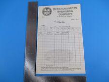 Antique June 1st 1917 Massachusetts Breweries Company Boston Receipt M2675