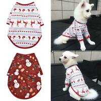 Christmas Pet Cat Puppy Dog Vest T-shirt Coat Xmas Elk Dog Clothes Pet Apparel @