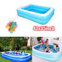 Aufgeblasenes Schwimmbad Planschbecken & Bälle für Kinder Spielzeug Outdoor