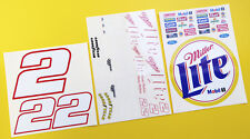 RC Nascar 'Miller Lite' number 2 style stickers decals Tamiya Xray TC5 Kyosho