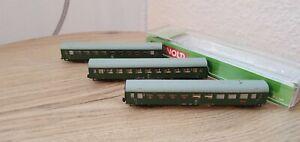 Arnold Hornby Personenwagen-Set 4205 Spur N Modernisierungswagen DR,Ep.4,grün