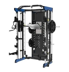 All-In-One Functional Trainer Smith Machine Power Rack Dual Pulley Home Gym