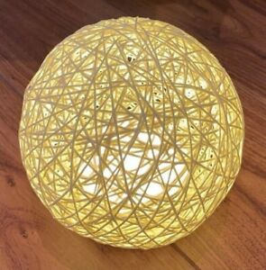 Rattan Ball LED Colour Changing Table Desk Bedside Night Light Lamp Decor Ivory