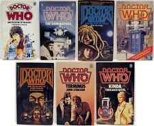 7 Dr Who Pb Books - 1980's Printings - Us/Uk - Weng Chiang Daleks Doom Unearthly