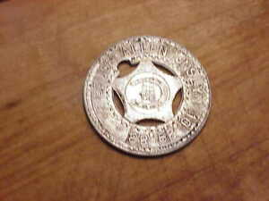 Festival aluminum Lucky charm  with BRUCE ALLEN JNSLYN ..10-29-83 STAMPED ON IT.