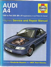 Audi A4 Saloon & Estate 1995-2000 Petrol & Diesel Haynes Service & Repair Manual