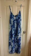 Love Chesley, women's size medium dress, spaghetti straps, blue & white, NWT