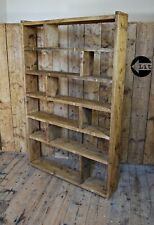 BOOKCASE WIDE ZIG ZAG home office W130 reclaimed wood industrial / rustic