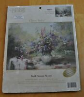 Field Flowers Picture 16x12 Embellished Cross Stitch Kit Candamar #51455  - NEW