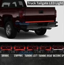 """White Red 60"""" Tailgate Bar Light Flexible LED Brake Reverse Signal Truck SUV"""