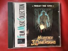 FRIDAY THE 13TH PART 3D CD OST FRENCH IMPORT OST HARRY MANFREDINI ! RARE !!!!!