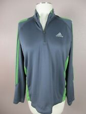 Adidas t829 Size M Men's Gray Full Sleeve 1/4 Zip Athletic Clima Cool Pullover