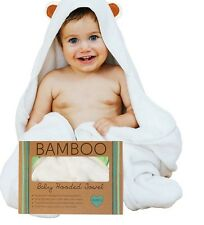 "Ayayu Soft Bamboo Baby Boy/Girl/Unisex 30""x30"" Hooded Towel &Washcloth Gift Set"