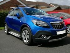 To Fit 13+ Vauxhall Opel Mokka Aluminium Abs Side Steps Running Boards With Logo