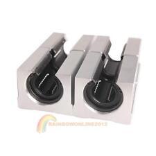 4x SBR20UU 20mm Aluminium Offen Linear Router Bewegungslager Solide blockieren