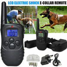 More details for anti bark lcd electric shock e collar dog training remote control rechargeable