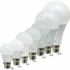 3W-25W LED Bulb BC B22 GLS Light Bulbs A60 Cool White Golf Globe Lamp LED Bulb