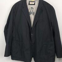 CAMEL ACTIVE Mens Black Linen-Cotton Blend Blazer Jacket/Sport Coat 50   0988