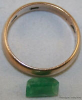 NATURAL GREEN EMERALD LOOSE GEM 4.6X8MM OCTAGON 1.35CT FACETED A GEMSTONE EM4B