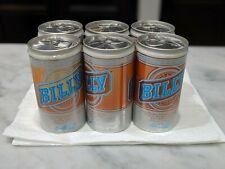 Billy Beer Cans Vintage 1970's 6-Pack Unopened Tab (Empty) W/ Plastic Ring