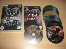 MEDAL OF HONOR 10th Anniversary Pc Cd Rom MOH HONOUR inc 5 games - FAST POST
