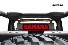 Vinyl Decal 3rd Brake Light Cover Sahara Kit for Jeep Wrangler 07-12 Matte Black