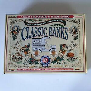 1992 Old Farmers Almanac Collectors Edition 200th Anniversary Locking Coin Bank