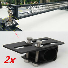 2x Schwarz Alu Zusatzscheinwerferhalterung Stoßstange Dachgepäckträger Halterung