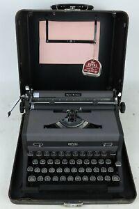 "Vintage Royal Quiet De Luxe ""Gray Magic"" Dreyfuss Portable Manual Typewriter QDL"