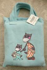 Childs Blanket & Bag Set Soft Fleece Embroidered Light Blue BNWT