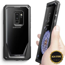 For Galaxy S9 Plus Shockproof Hybrid Hard-Back Armor Cover Case Black