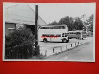 PHOTO  RELIANCE DOUBLE DECK BUS OUTSIDE THE BUS DEPOT