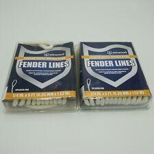 Attwood Boat Fender Line 11843-7 | 1/4 Inch x 5 FT White Nylon 2-Pack New In Box