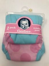 Gerber Baby 2 pack Girls Training Pants 3 years 32-35 lbs 100% Cotton New