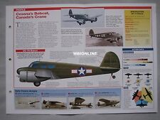 Aircraft of the World Card 32 , Group 11 - Cessna T-50 Bobcat