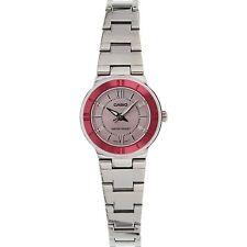 Casio LTP1368D-4A Ladies Pink Dial Metallic Stainless Steel Dress Watch NEW