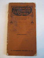 1919 EXPERIMENTAL ELECTRICITY COURSE BOOK BY S. GERNSBACK & H.W. SECOR - TUB RRR