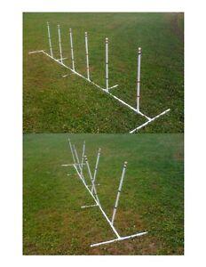 Dog Agility Equipment Weave Poles Adj ANGLE & SPACING