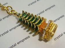 Feng Shui - 2016 Bejeweled Seven Level Pagoda Keychain for Exam Luck