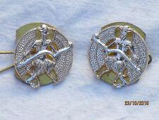 Posadas of Court & City Yeomanry, Collar insignias,Anodizado Aluminio Staybright