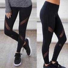 Women High Waist YOGA Pants Pocket Sports Fitness Leggings Trousers Plus Size OB