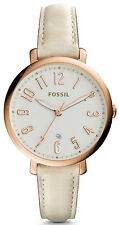Fossil ES3943 Jacqueline Silver Dial Tan Leather Strap Women's Watch