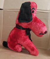 Rare Vintage Carnival Plush Prize Beagle Dog Red Black Stuffed Animal 16""