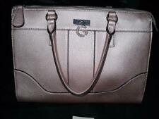 Guess Metallic Pink Pink Handbag Tote Purse Bag Silver Hardware Rose Gold