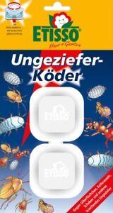 Etisso Ungeziefer-Köder 2 Köderboxen gegen Silberfischchen Kellerasseln Schaben