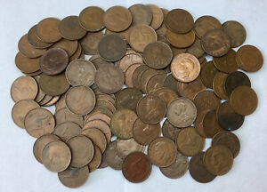 Australia One Penny Lot X100 Antique And Modern Copper Coins #N23