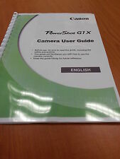 Canon POWERSHOT G1X FULL User Manual Manuale istruzioni stampate 245 pagine A5