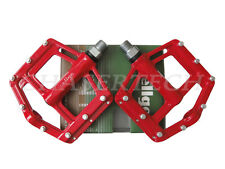 "New Wellgo MG-21 BMX Bicycle Bike Magnesium Pedals 9/16"" Red"