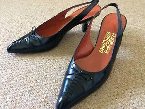 Salvatore Ferragamo black slingback shoes UK 5